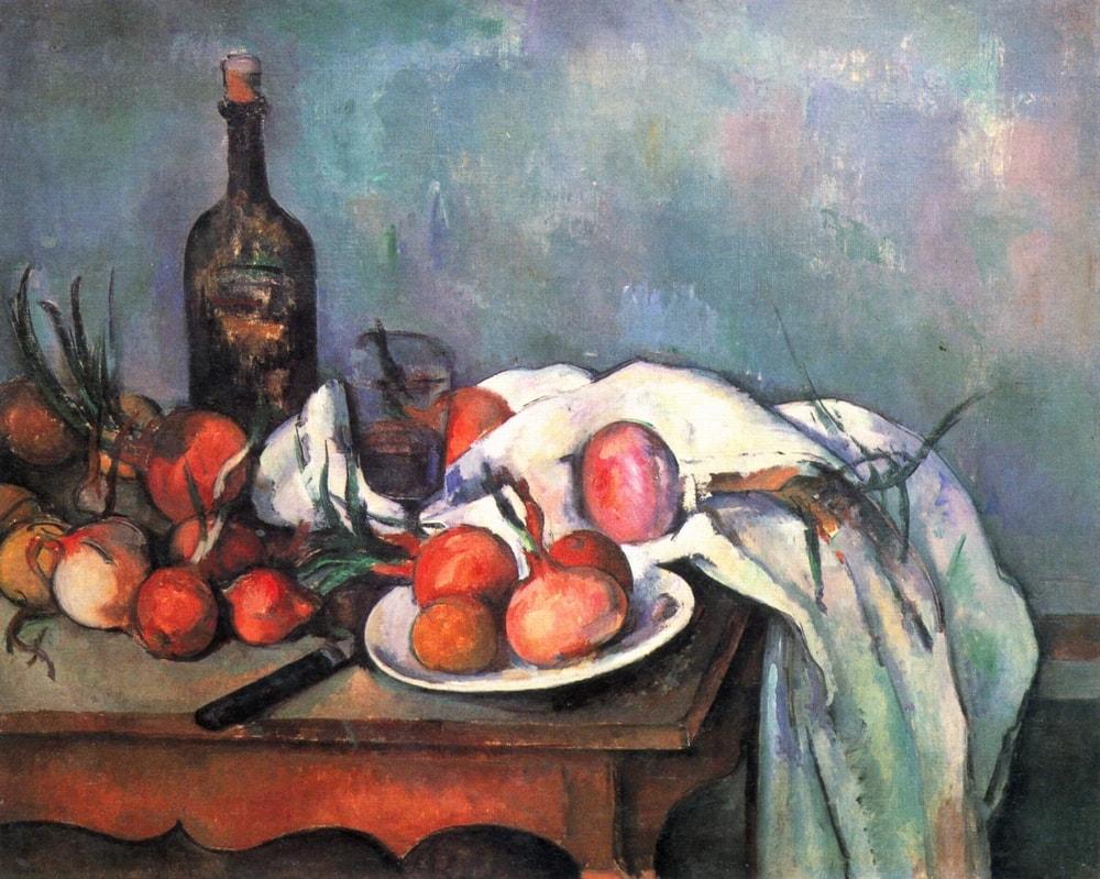 Paul Cezanne: Csendélet hagymákkal, 1898