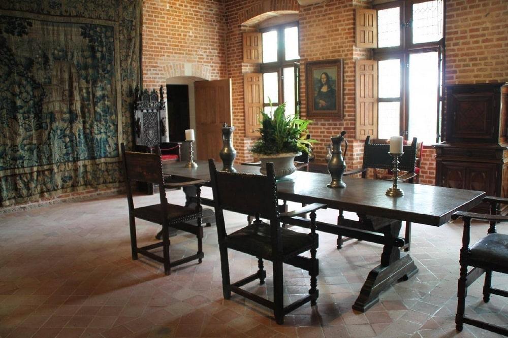 A Chateau Cloux ebédlője